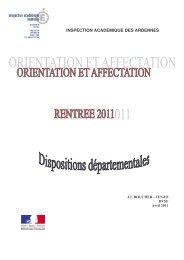 Circulaire complete 2011 - Académie de Reims