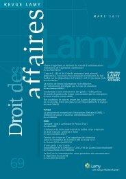 Revue LAMY Droit des affaires - Mars 2012 - n - Simon Associés
