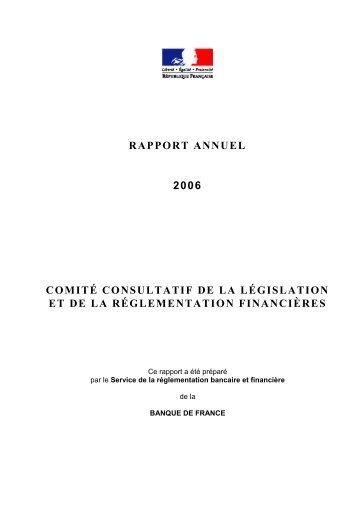 Rapport annuel du Comité consultatif de la législation et de la ...