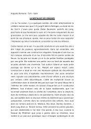 Augusto Romano - Turin - Italie LA NOSTALGIE DES ORIGINES J'ai ...