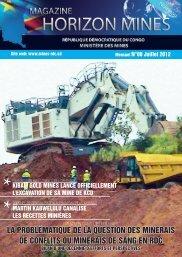 Revue Horizon Mines Magazine n° 00 - Ministère des Mines
