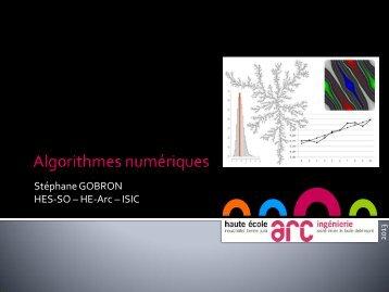 Algorithme numérique, ch.1 - Stephane Gobron