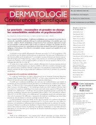 Le psoriasis - Dermatologie conférences scientifiques
