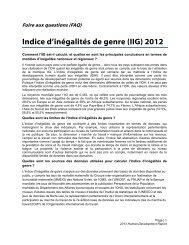 HDR 2013 FAQ GII French - Human Development Reports
