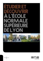 Etudier et découvrir à l'ENS de Lyon