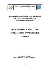 la paragonimose au laos - Institut de la francophonie pour la ...