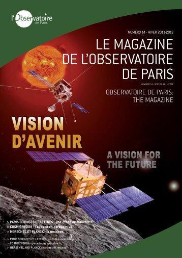 Télécharger le n°14 Hiver 2011-2012 - Observatoire de Paris