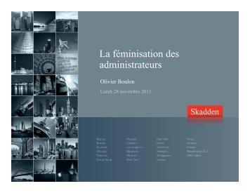 La féminisation des administrateurs