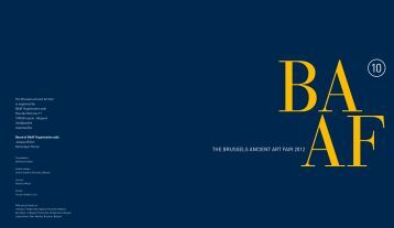 THE BRUSSELS ANCIENT ART FAIR 2012 - Baaf