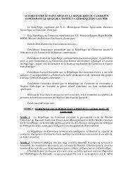 Accord entre le Saint Siège et la République du Cameroun ...