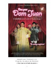 « Dom Juan ou le festin de pierre »
