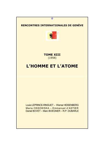 L'Homme et l'atome - Rencontres Internationales de Genève