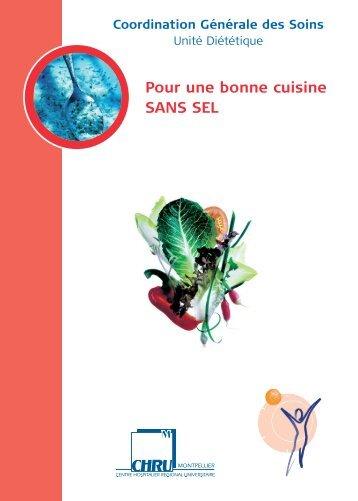 Pour une bonne cuisine SANS SEL - CHU Montpellier
