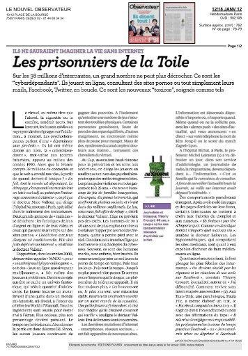 Les prisonniers de la Toile - Thierry Crouzet