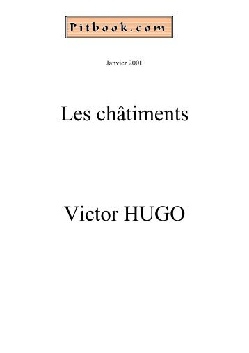 Les châtiments Victor HUGO - Pitbook.com