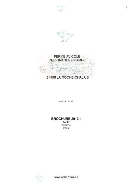 Catalogue 2013 - Ferme avicole des Grands Champs