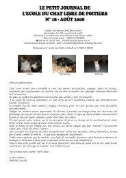 téléchargez ici notre petit journal de aout 2008 - Ecole du chat libre ...