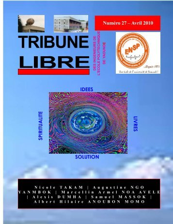 Tribune Libre N°27 - Avril 2010