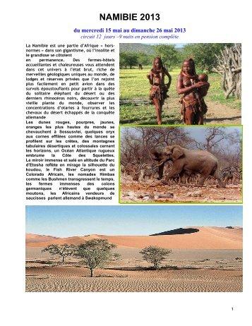NAMIBIE 2012 - UPT