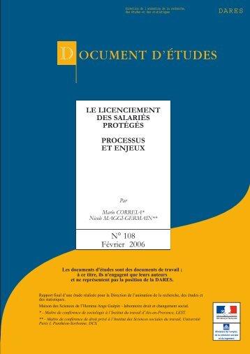 Le licenciement des salariés protégés (DE février 2006) (pdf - 1.1 Mo)