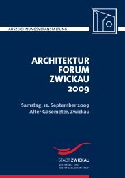 architekturforum zwickau 2009 - Stadt Zwickau