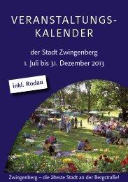 VERANSTALTUNGS- KALENDER ... - Zwingenberg