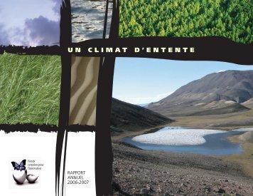 Pour télécharger le rapport annuel 2006-2007 (pdf, 8Mo)