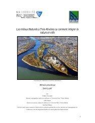 Les milieux Naturels à Trois-Rivières ou comment intégrer la nature ...