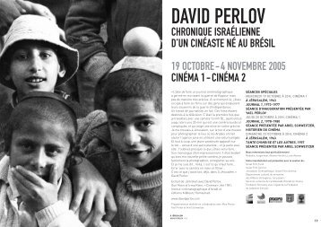 programme en PDF - David Perlov