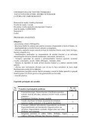 limba spaniolă contemporană sem i - Facultatea de Litere, Istorie şi ...