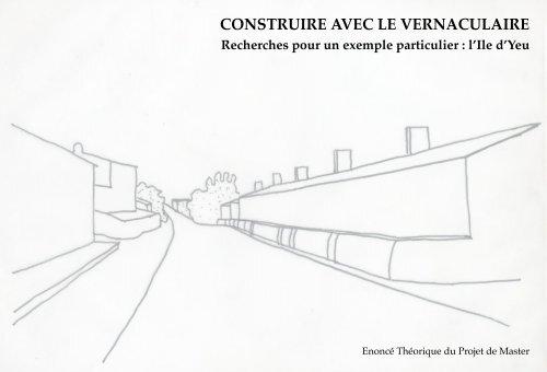 Construire aveC le vernaCulaire - EPFL