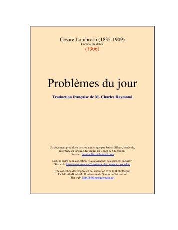 Problèmes du jour - Les Classiques des sciences sociales - UQAC