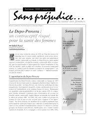 Le Depo-Provera - Réseau québécois d'action pour la santé des ...