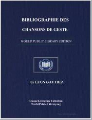 BIBLIOGRAPHIE DES CHANSONS DE GESTE - World eBook Library