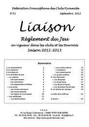 Lexique La Federation Francophone Des Clubs Pyramide