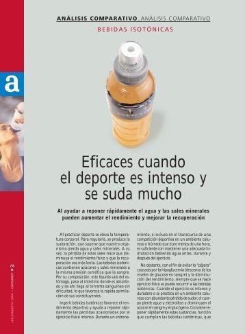 bebidas isotonicas - Revista Consumer