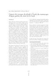 L'apport des isotopes du plomb à l'étude des monnayages d'argent ...