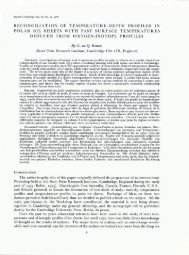 reconciliation of temperature-depth profiles in polar ice sheets with ...