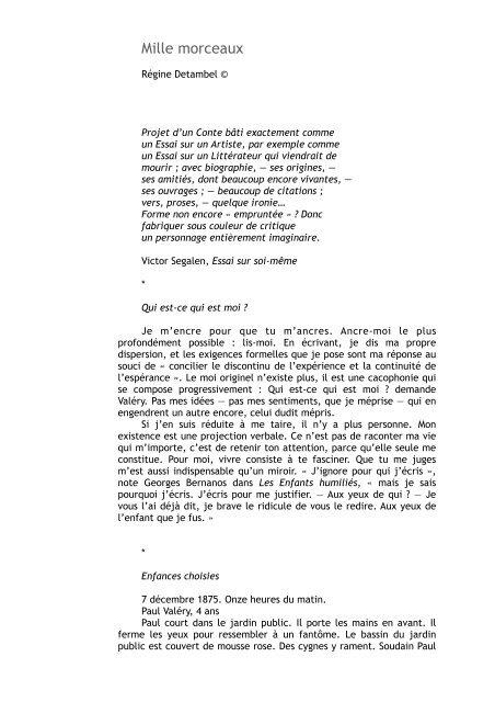 Lire Le Texte Régine Detambel
