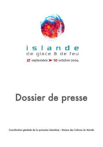 Dossier de presse - Maison des Cultures du Monde