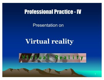 Seminar Virtual Reality Report.pdf - 123SeminarsOnly