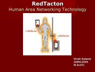 RedTacton Human Area Networking Technology - 123SeminarsOnly