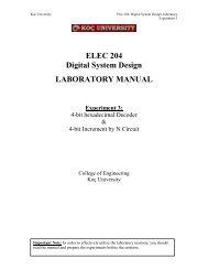 Lab 3 - ELEC 204 Digital System Design LABORATORY MANUAL