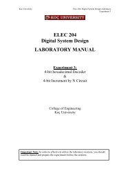 Lab 3 - ELEC 204 Digital System Design LABORATORY MANUAL