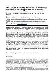 Heat acclimation during incubation and breeder age ... - Cabi