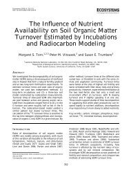 The Influence of Nutrient Availability on Soil Organic Matter Turnover ...
