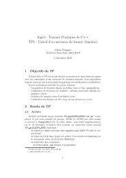 Ingé4 - Travaux Pratiques de C++ TP1 : Calcul d'occurrences ... - LRI