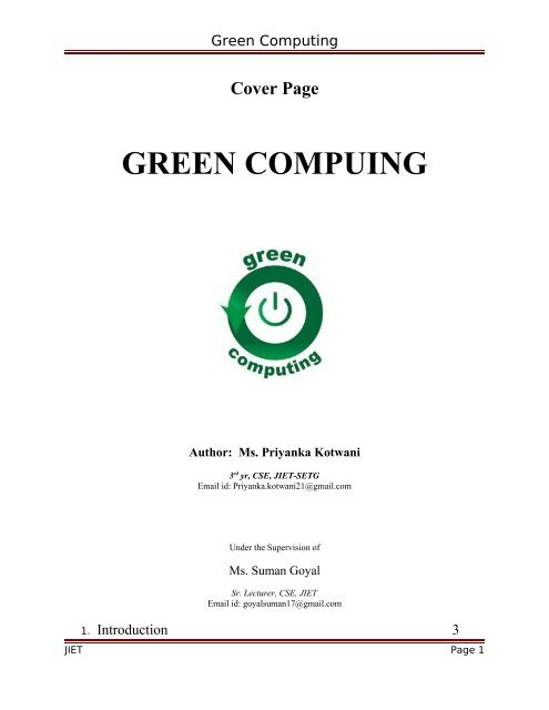 Computing pdf green