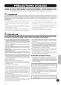1 Choisissez le mode Function. - Yamaha - Page 3