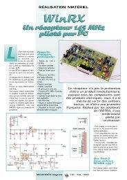 Un récepteur 145 MHz piloté par PC Un récepteur 145 MHz piloté ...
